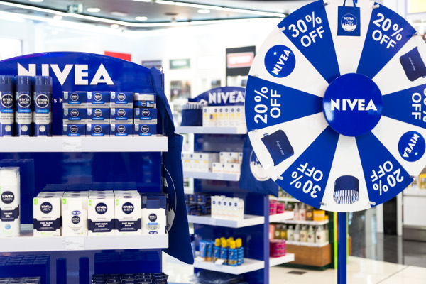 Nivea and World Duty Free Group spin Wheel of Fortune in