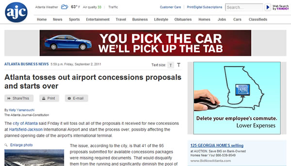 Hartsfield-Jackson Airport RFPs to be reissued - The Moodie