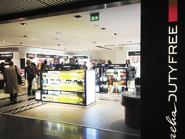 free shop en aeropuerto de roma fiumicino